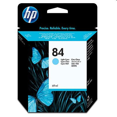 Tusz oryginalny 84 do HP (C5017A) (Jasny błękitny)