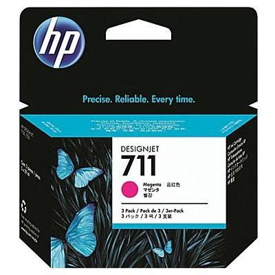 Tusze oryginalne 711 do HP (CZ135A) (Purpurowy) (trójpak)