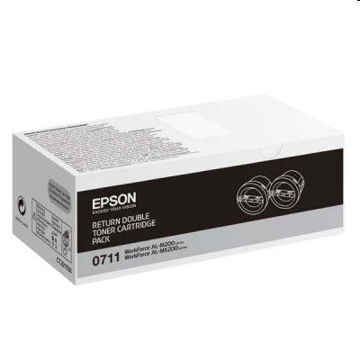 Tonery oryginalne M200/MX200 do Epson (C13S050711) (Czarny) (dwupak)