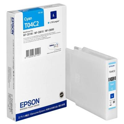 Tusz oryginalny T04C2 L do Epson (C13T04C240) (Błękitny)