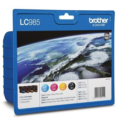 Tusze oryginalne LC-985 CMYK do Brother (LC985VALBP) (komplet)