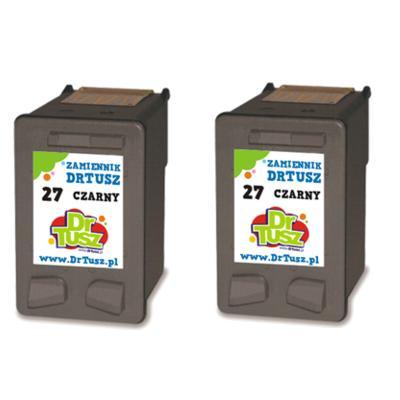 Tusze zamienniki 27 do HP (CC621A) (Czarny) (dwupak)