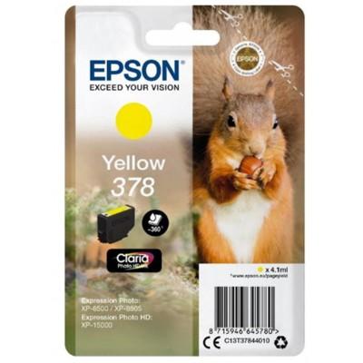 Tusz oryginalny T3784 do Epson (C13T37844010) (Żółty)