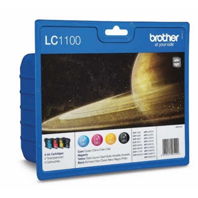 Tusze oryginalne LC-1100 CMYK do Brother (LC1100VALBP) (komplet)