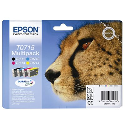 Tusze oryginalne T0715 do Epson (C13T07154010) (komplet)