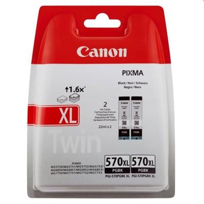 Tusze oryginalne PGI-570 XL BK do Canon (0318C007) (Czarny) (dwupak)