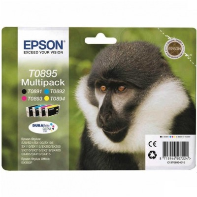 Tusze oryginalne T0895 do Epson (C13T08954010) (komplet)