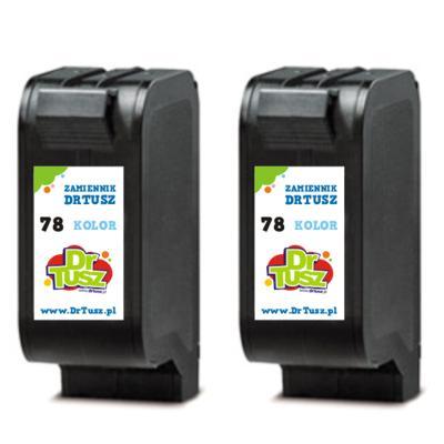 Tusze zamienniki 78 do HP (C8725A) (Kolorowy) (dwupak)