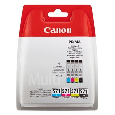 Tusze oryginalne CLI-571 CMYK do Canon (0386C005) (czteropak)