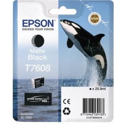 Tusz oryginalny T7608 do Epson (C13T76084010) (Czarny matowy)