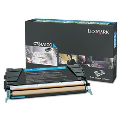 Toner oryginalny X746A1CG do Lexmark (X746A1CG) (Błękitny)