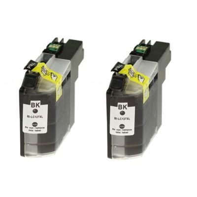 Tusze zamienniki LC-127 XL BK do Brother (LC127XLBKBP2) (Czarny) (dwupak)
