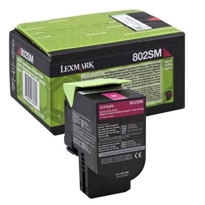 Toner oryginalny 802SM do Lexmark (80C2SM0) (Purpurowy)