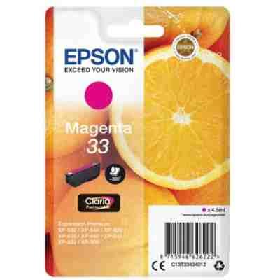 Tusz oryginalny T3343 do Epson (C13T33434012) (Purpurowy)