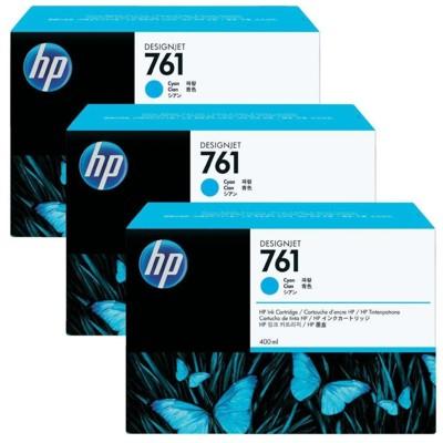 Tusze oryginalne 761 do HP (CR272A) (Błękitny) (trójpak)