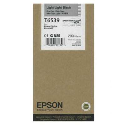 Tusz oryginalny T6539 do Epson (C13T653900) (Jasny jasny czarny)