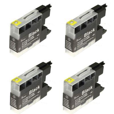 Tusze zamienniki LC-1280 XL BK do Brother (LC1280XLBK) (Czarny) (czteropak)
