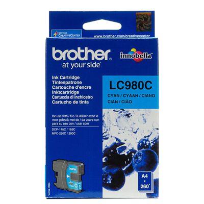 Tusz oryginalny LC-980 C do Brother (LC980C) (Błękitny)