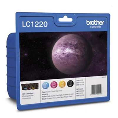Tusze oryginalne LC-1220 CMYK do Brother (LC-1220VALBP) (komplet)