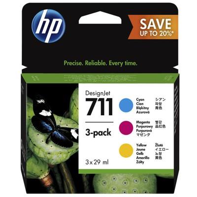 Tusze oryginalne 711 CMY do HP (P2V32A) (trójpak)