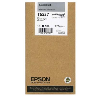 Tusz oryginalny T6537 do Epson (C13T653700) (Jasny czarny)