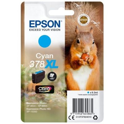 Tusz oryginalny T3792 do Epson (C13T37924010) (Błękitny)