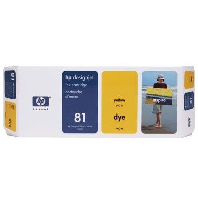 Tusz oryginalny 81 do HP (C4933A) (Żółty)