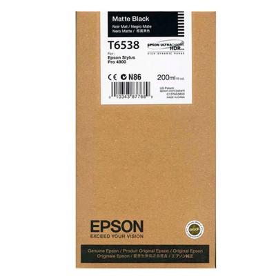 Tusz oryginalny T6538 do Epson (C13T653800) (Czarny matowy)