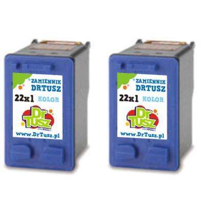 Tusze zamienniki 22 do HP (SD429AE) (Kolorowy) (dwupak)