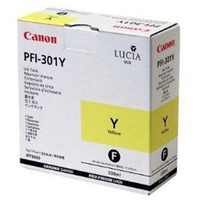 Tusz oryginalny PFI-301Y do Canon (1489B001) (Żółty)
