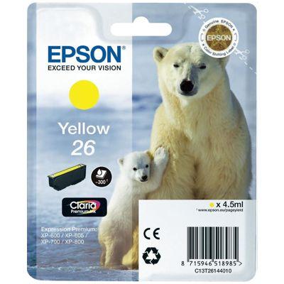 Tusz oryginalny T2614 do Epson (C13T26144010) (Żółty)