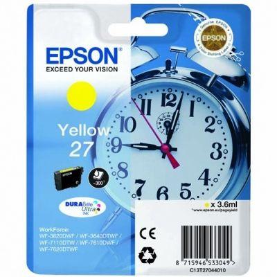 Tusz oryginalny T2704 do Epson (C13T270440) (Żółty)